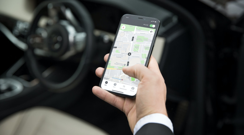 Chauffeur app for iOS and Android